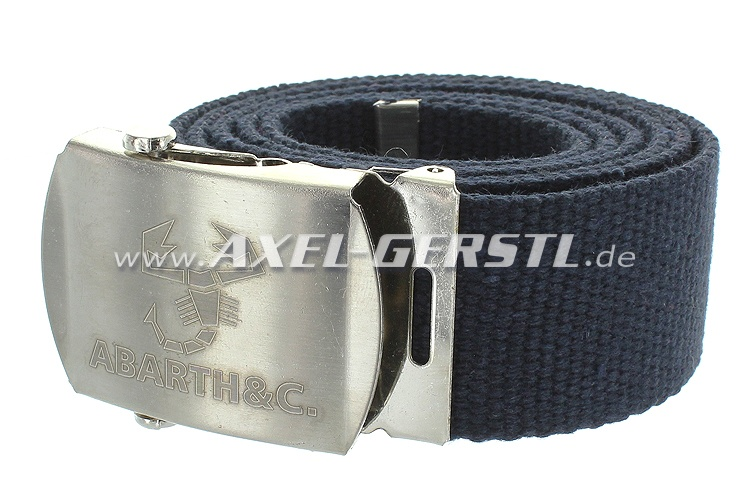 Belt (40 mm) with Abarth belt buckle, blue