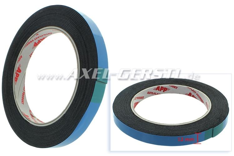 Bande adhésive pour la vignette-bordure 12 mm x 5 m, noire