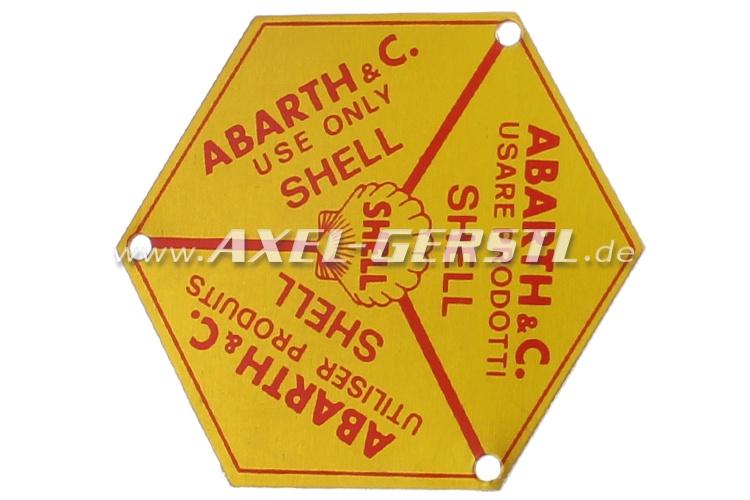 Emblem/Schild f. Deckel f. Öleinfüllstutzen Abarth Shell