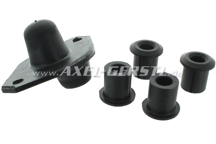Set of rubber bearings for engine mounting