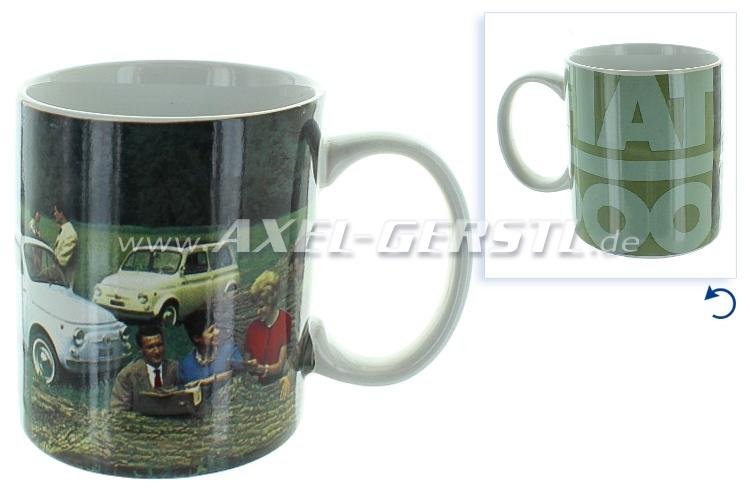 Tasse à café, avec photo de Fiat 500 -VERT-