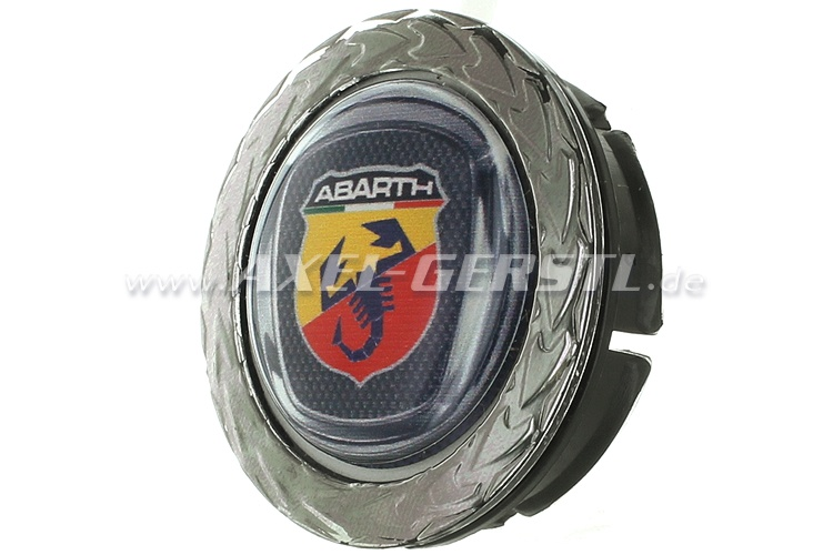 Coperchio ruota Abarth, blasone in corona dalloro, 42/50 mm