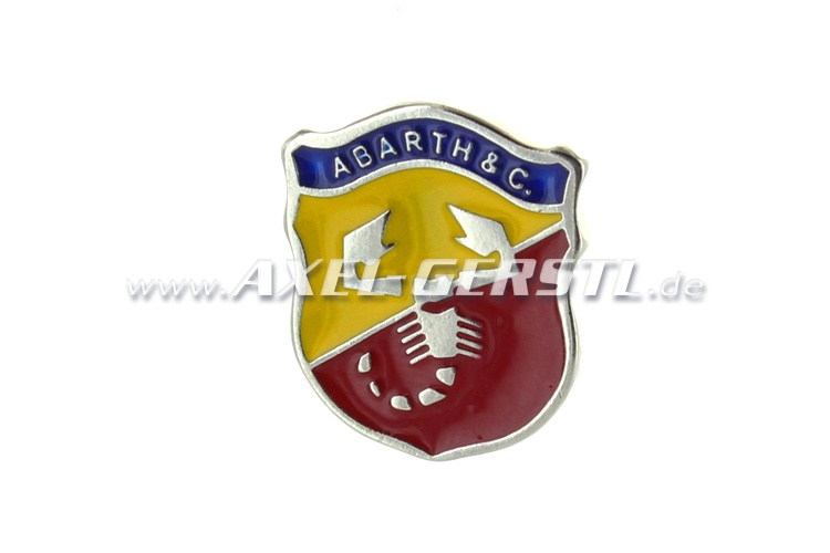 Abarth emblème crête 22 x 26 mm, à coller