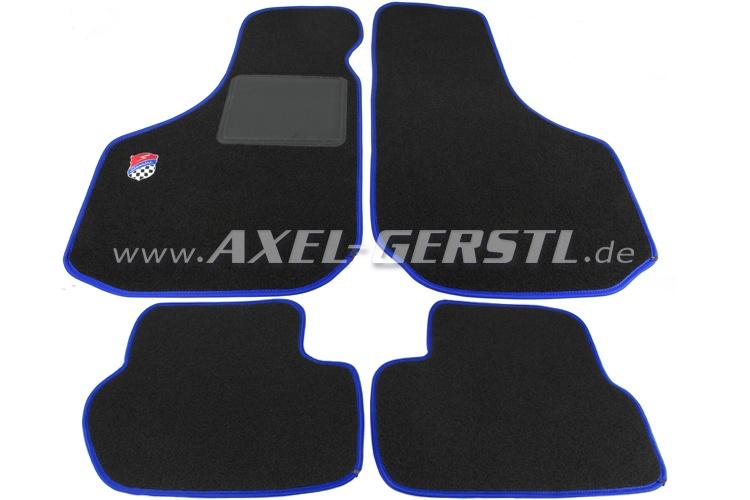 Lot de tapis de sol de plancher Giannini noir/bleu