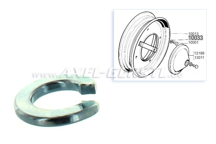 Spring-lock washer M10 for wheel bolt