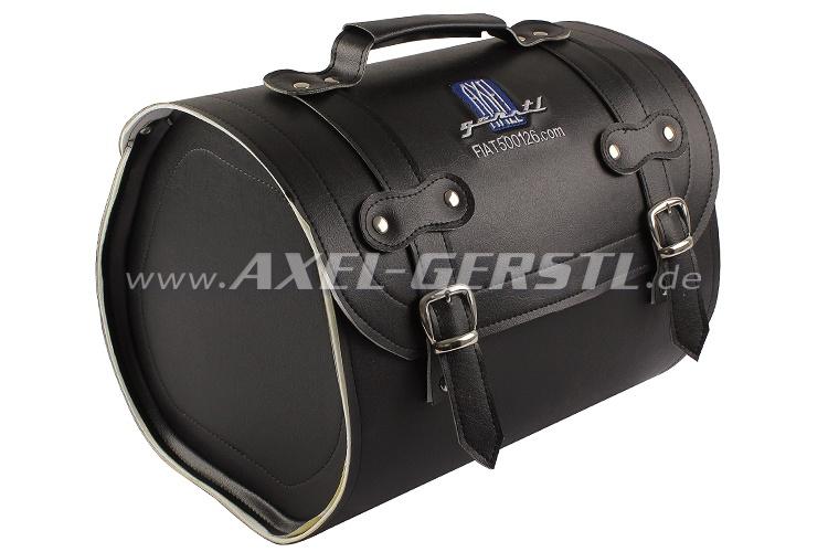 SoPo: Koffer aus Kunstleder, schwarz, mit Axel Gerstl Logo
