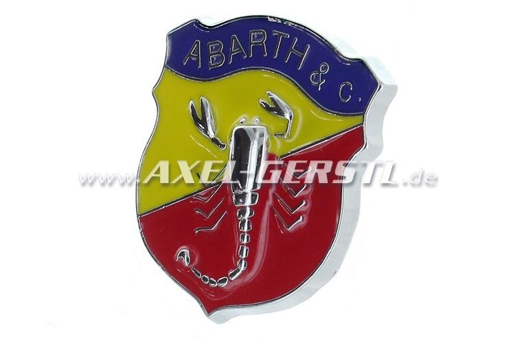 Abarth emblème crête 30 x 34 mm, pour coller
