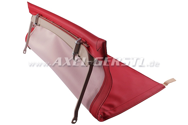Convertible top with front bow & middle stick (short), red