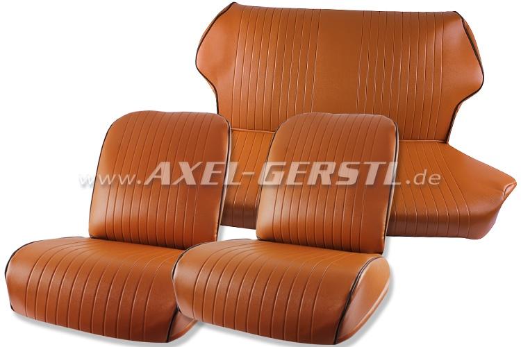 Housses de sièges, ocres, cuir artificiel, avant et arrière