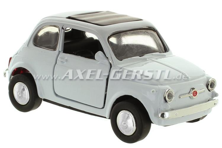 Modellauto Fiat 500 F, weiß, 1:32; Spritzguss / Plastik
