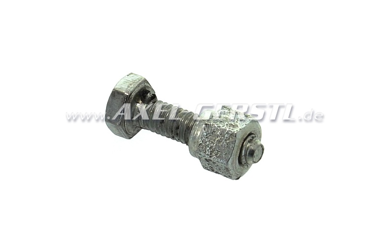 Screw for choke control cable rear with nut (clamp screw)