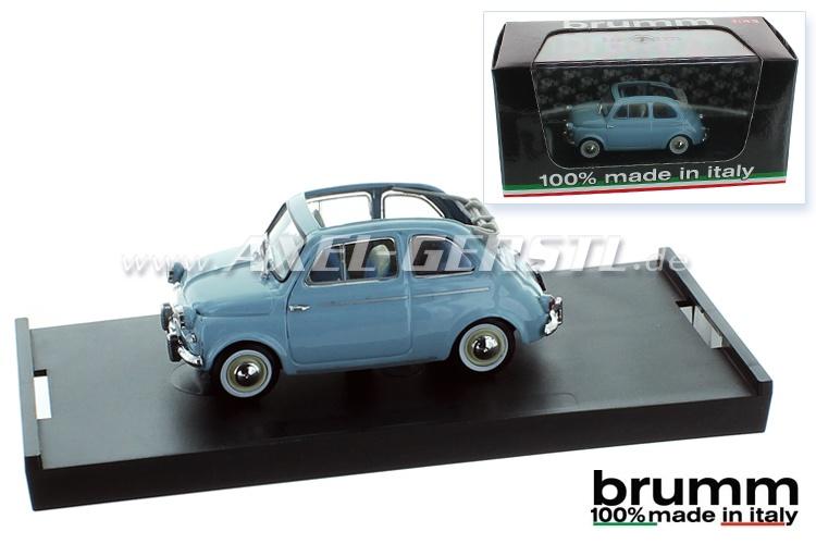 Modello dauto Brumm Fiat 500 N (1959), 1:43, azurr / aperto