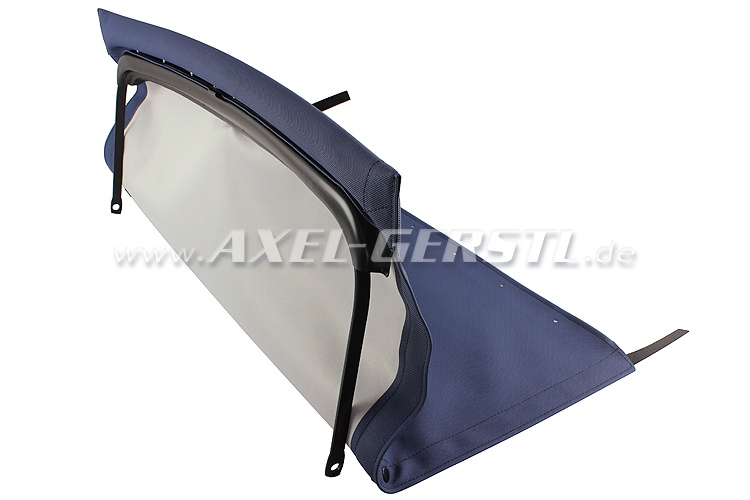 Convertible top w. front bow + middle stick, blue, type 2