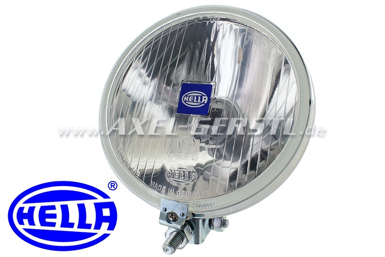 Auxilliary driving lamps H3, HELLA brand, chrome-plated casi