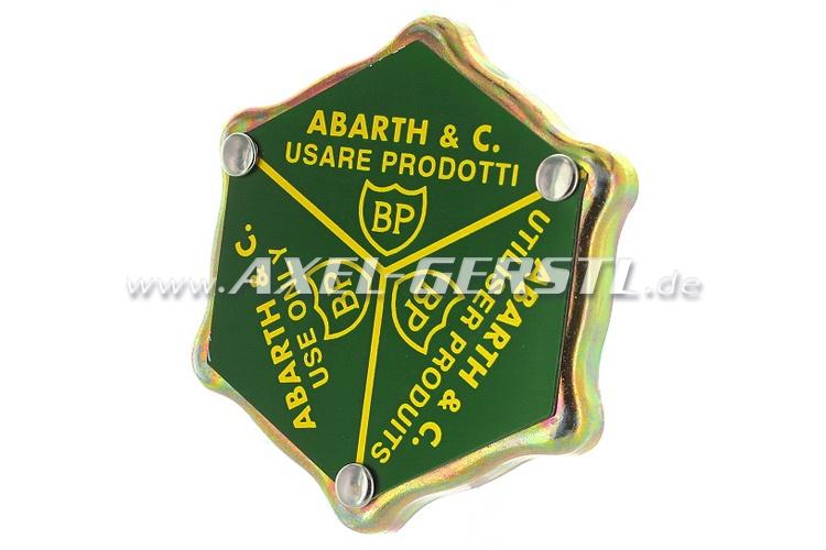 Lid for oil filler nozzle Abarth BP (aluminum valve cover)