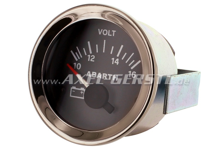 Abarth voltmeter, 52mm, black dial