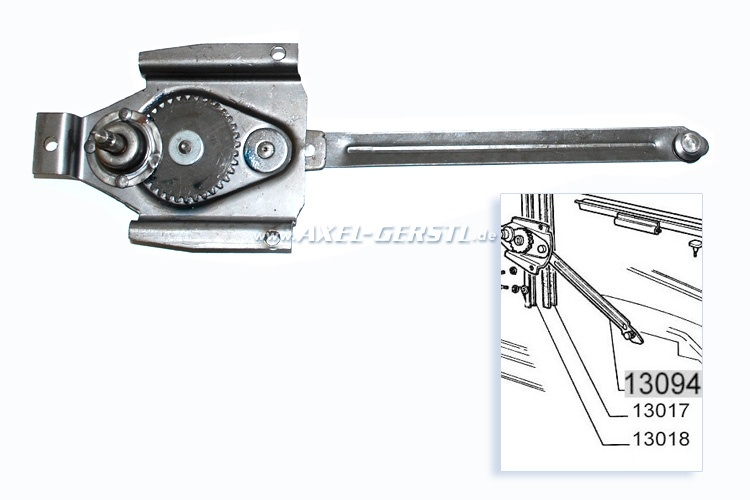 Window crank mechanism Fiat 500