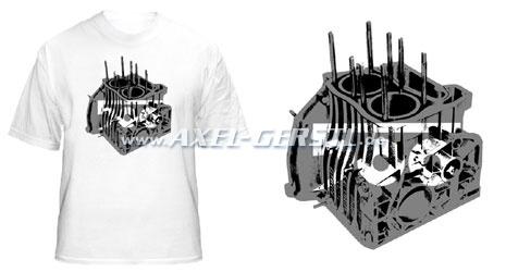 T-shirt motore bianco