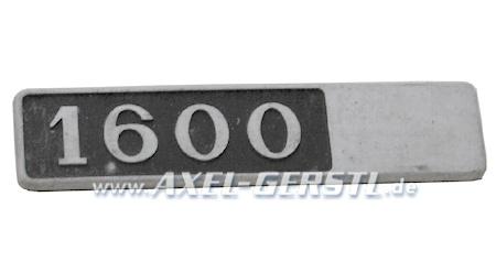 SoPo: Schriftzug 1600, Emblem aus Metall