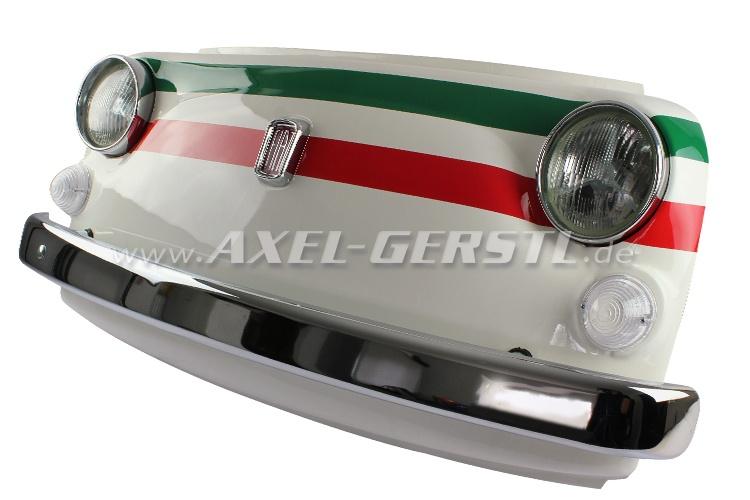Wand-Deko Fiat-500-Frontmaske TRICOLORE, inkl. Beleuchtung