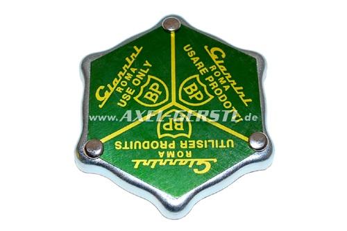Lid for oil filler nozzle Giannini BP (aluminum v. cover)