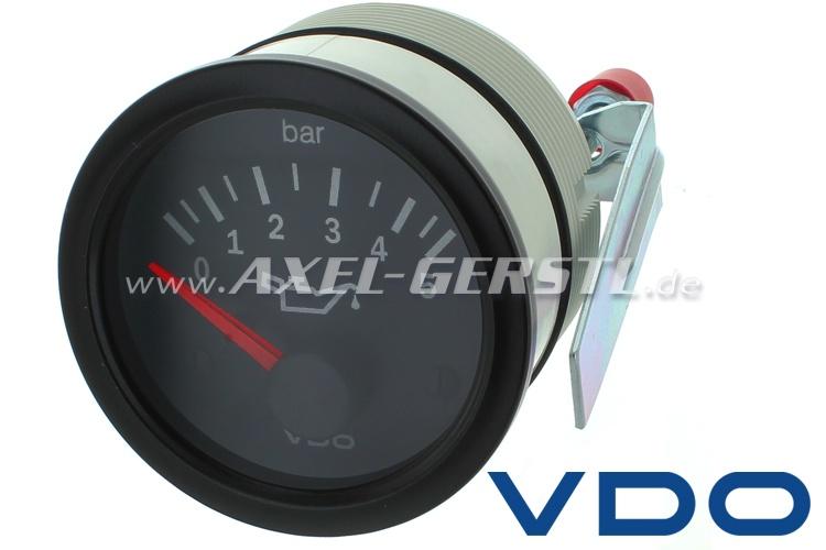 Indicatore pressione olio VDO fino a 5 bar, 52 mm, nero