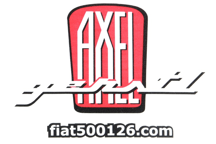 Sticker Axel Gerstl red, small