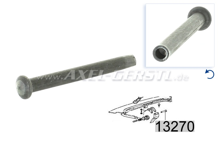 Tubular rivet/bolt for convertible top toggle