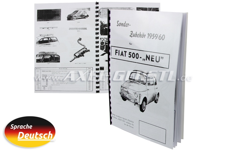 Catalogue update special a.  Fiat 500 new 59/60 (German)