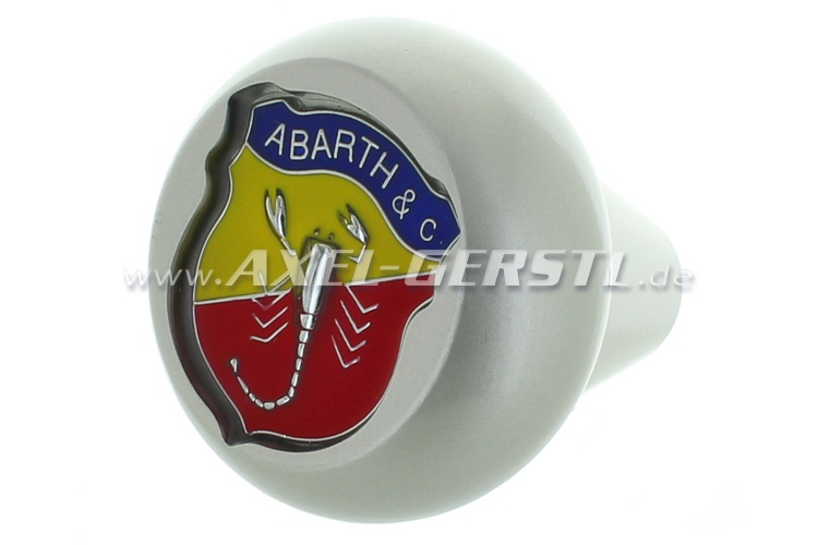 Gear shift knob Abarth logo, aluminum