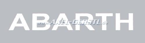 Autocollant Abarth 370 mm, blanc