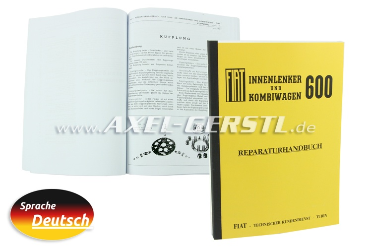 Repair-guide, bound copy, 229 pages A4 format (German)
