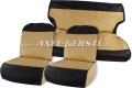 Sitzbezüge beige/schwarz, Stoff (PVC) kpl. vo. & hi.
