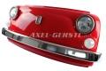 Wand-Deko Fiat-500-Frontmaske dunkelrot, inkl. Beleuchtung