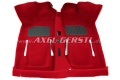 Floor carpet red, with two heel protectors, A-quality