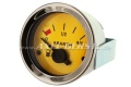 Abarth Benzinuhr / Tankanzeige, 52mm, gelbes Zifferblatt