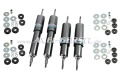 Set of shock absorbers, front & back (oil pressure)