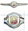Frontemblem Abarth (Flügel incl. mittlerem Emblem)