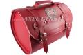 SoPo: Koffer aus Kunstleder, rot, mit FIAT Logo