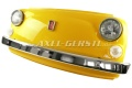 Wand-Deko Fiat-500-Frontmaske  gelb, inkl. Beleuchtung