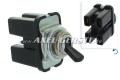 Toggle switch, 2step/4con, chrome/black lever, for wiper