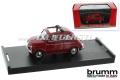 Model car Brumm Fiat 500 D, 1:43, dark red / open