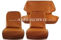 Seat covers, ochre artificial leather, front & back