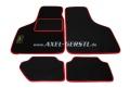 Tappeti auto, nero con sponda/rosso