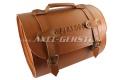 SoPo: Koffer aus Kunstleder, braun, m. FIAT 500 Schriftzug