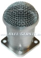 Carburetor air intake 40 mm, aluminum with grill for 32 FZD