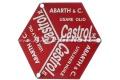 Emblem/Schild f. Deckel f. Öleinfüllstutzen Abarth Castrol