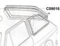 Joint de lunette arriere (sans vignette-bordure)