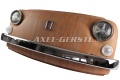 Wand-Deko Fiat-500-Frontmaske braun, inkl. Beleuchtung