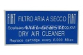 Aufkleber Filtro Aria f. Luftfiltergehäuse 70 x 36 mm